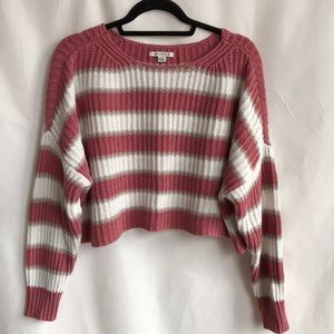 American Eagle Outfitters striped crop sweater, L
